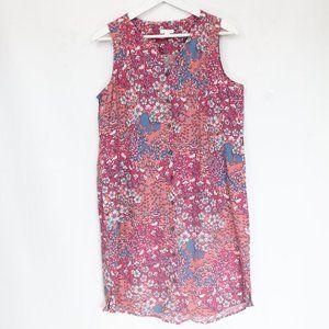 J Jill Floral Dress Small Sleeveless Women Pockets